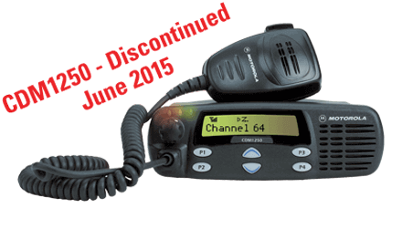 motorola cdm1250 discontinued point to point communications ontario